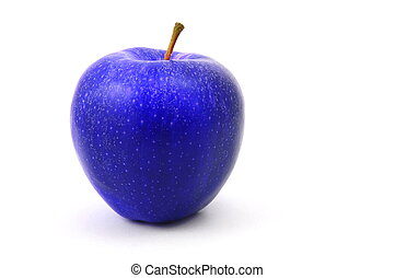 blue apple - a blue apple fruit isolated on white background