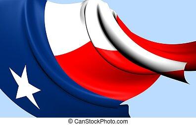 Flag of Texas, USA Close Up