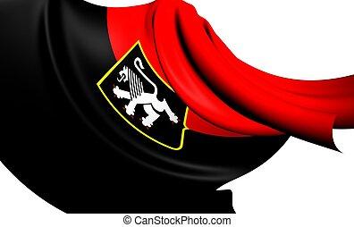 Flag of Aosta Valley, Italy.
