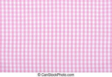 pink checkered fabric - Light pink checkered fabric closeup...