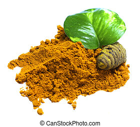 turmeric powder and turmeric - turmeric powder in white...