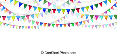 Bunting Flags - Bunting flags on a white background as an...