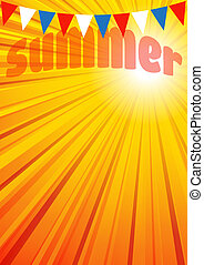 Summer Background, Leaflet, Flyer, - The background has a...