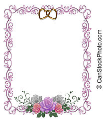 Wedding Invitation Roses Border - Image and illustration...