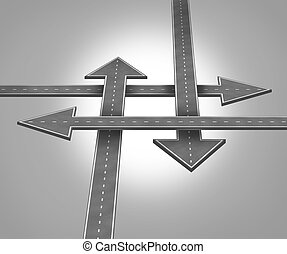 Choosing Direction - Choosing direction business concept...
