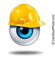 protegendo, seu, olhos