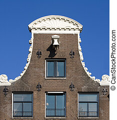 Amsterdam house - Façade of canal houses in Amsterdam,...