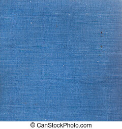 old book cloth - background of old blue hardcover book cloth...