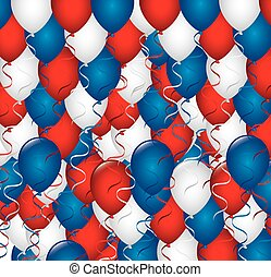 balloons - party national over ballons background vector...