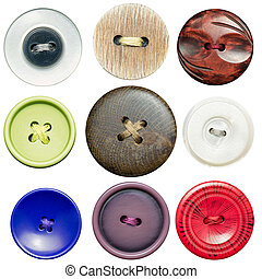 Sewing buttons  - Various sewing buttons with a thread.