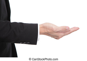 hand of Business man close up - Business man holding...
