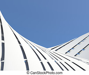 Abstract architectural background Creative shapes conceptual...