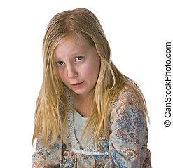 Sad Girl Crying - Sad girl crying on a white background