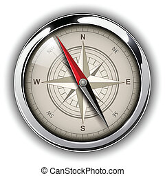 Compass with windrose Vector Illustration