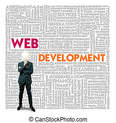 Word cloud for business and finance concept, Web Development