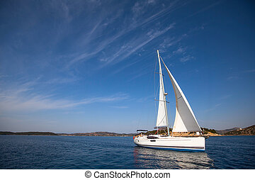 Navegación, Yate, carrera, imagen, espacio, texto, o,...
