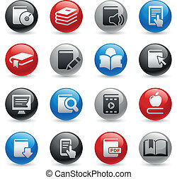 Book Icons -- Gel Pro Series - Vector buttons for your web...