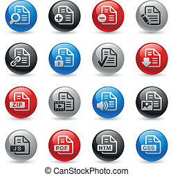 Documents Icons - Set 1 -- Gel Pro - Vector buttons for your...