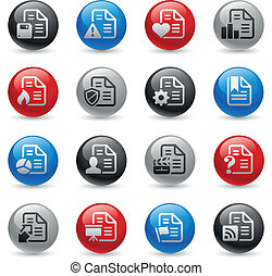 Documents Icons - Set 2 -- Gel Pro - Vector buttons for your...