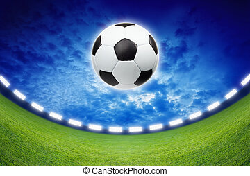 Soccer background - Abstract sports background - soccer...