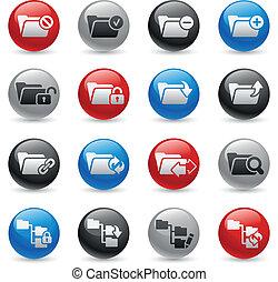 Folder Icons - Set 1 -- Gel Pro Ser