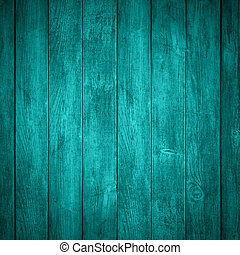 turquoise wooden background or color planks texture