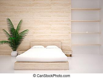 Modern interior of bedroom - Minimal interior. Modern...