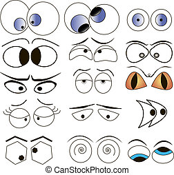 Cartoon eyes set - Cartoon eyes vector illustration set