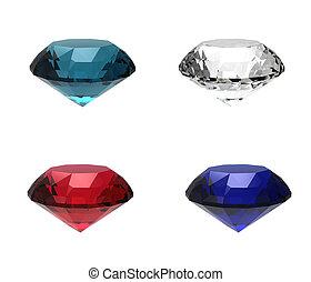 Collection gemstone round shape