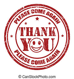 Thank you stamp - Thank you grunge rubber stamp, vector...