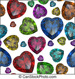 Heart shaped Diamond isolated on color background