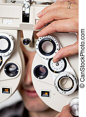 eyesight measurement - detail view of eyesight measurement...