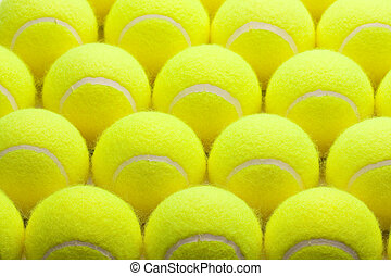 Group of Tennis Balls - Macro Set of Brand New Tennis Balls