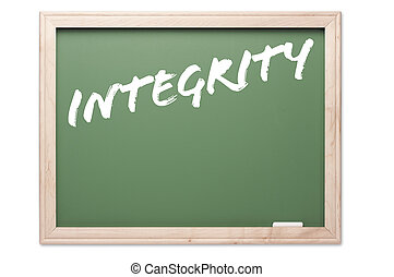 Chalkboard - Integrity - Chalkboard Series Isolated on a...