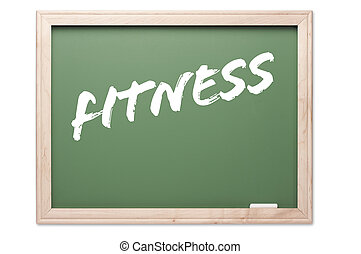 Chalkboard Series - Fitness - Chalkboard Series Isolated on...