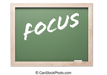 Chalkboard Series - Focus - Chalkboard Series Isolated on a...