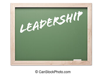 Chalkboard - Leadership - Chalkboard Series Isolated on a...