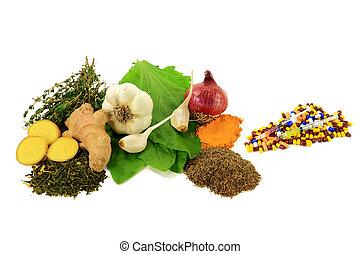 Natural versus Pharmaceutical Antibiotics - Group of Natural...
