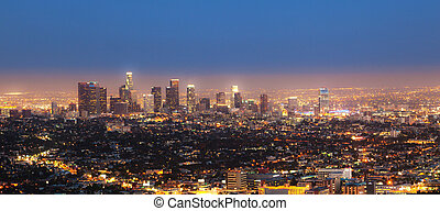 cityview of Los Angeles by night