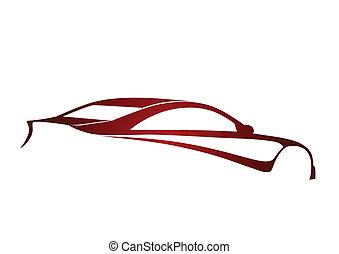 Red super sport auto
