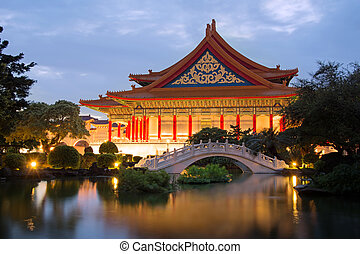 National Concert Hall in Taipei - Chinese style building,...