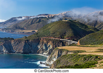 The Bixby Bridge - The Historic Bixby Bridge at Big Sur,...