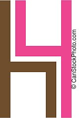Logo for furniture designer shaped like H