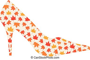 shoe with maple leaves
