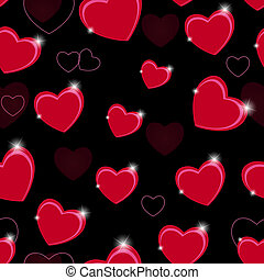 Happy Valentines Day seamless pattern background with heart...
