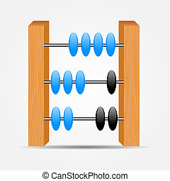abacus icon vector illustration