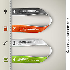 Banner template, infographics elements. Eps 10