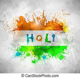 Holi background - Holi festival, grunge background. Eps 10