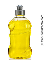 Yellow Dish Washing Liquid - A Bottle of Yellow Dish Washing...