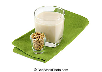 A Glass of Fresh Soy Milk (Soybean Milk, Soya)